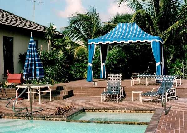 Poolside Cabana Example From Delray Awning