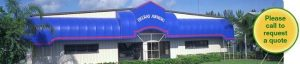 Awning custom manufacturing facility in Delray Beach