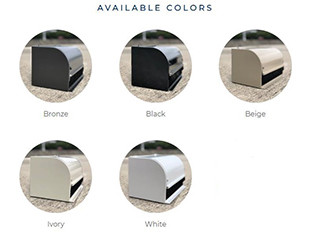 5 motorized sunscreen frame color choices