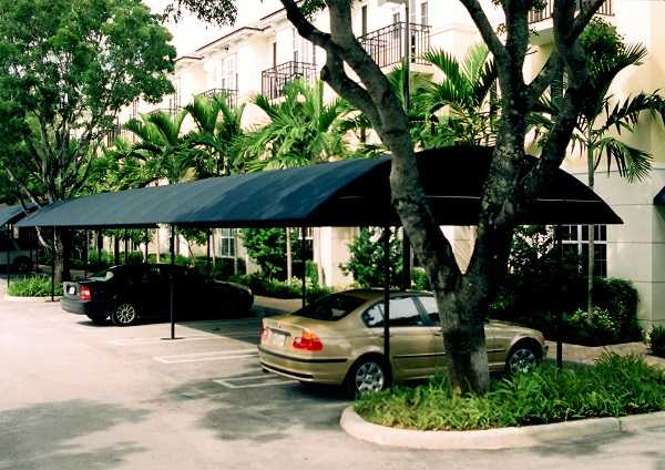 commercial parking lot awning cover example