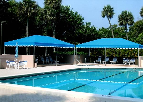 Pool Cabana Commercial Example By Delray Awning
