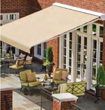 SUNBRELLA Awning Marine Solids used on a retractable awning