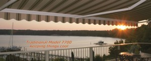 We sell NuImage Traditional Model 7700 retractable awnings